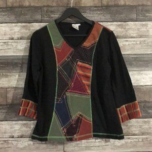 Parsely & Sage Women's Patchwork Top